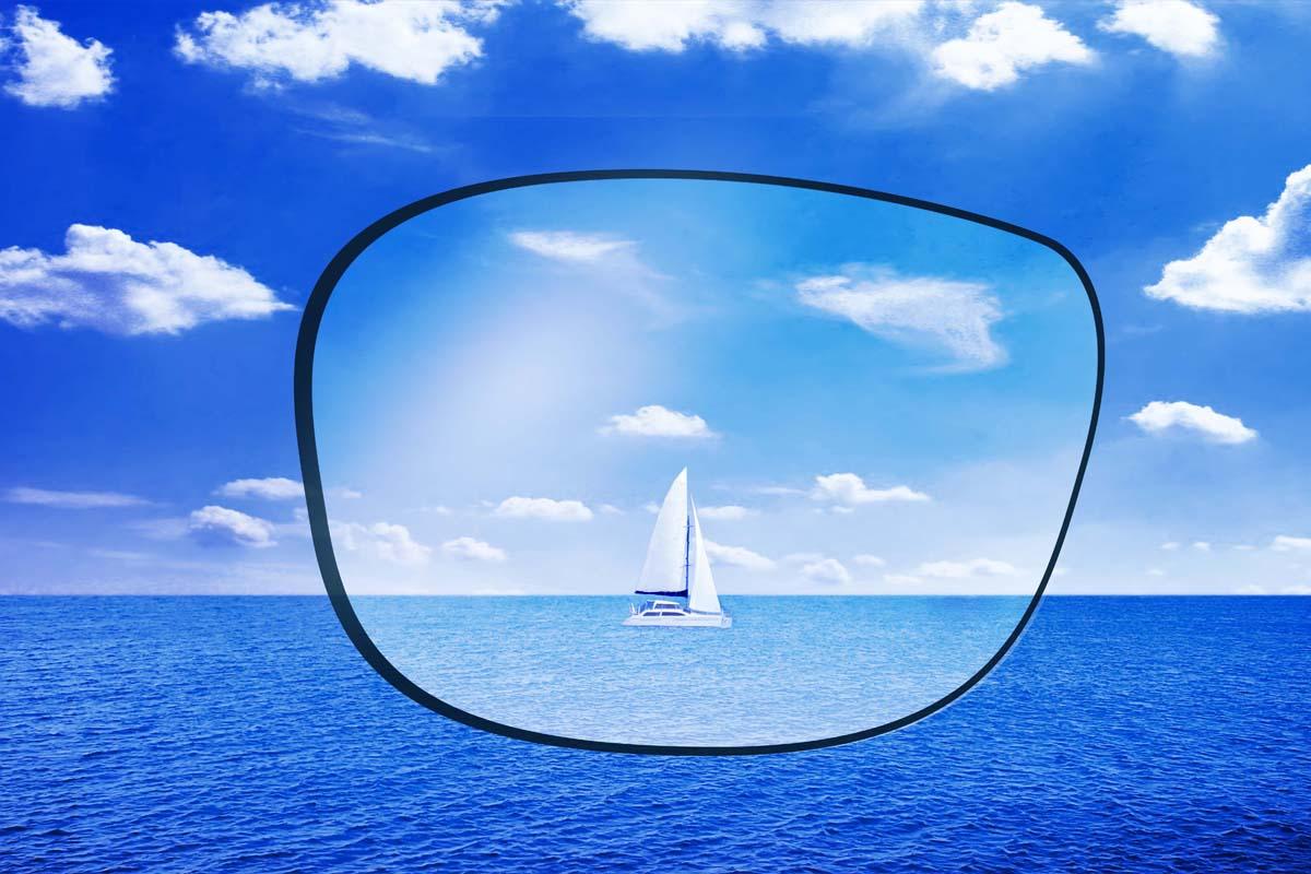 Without polarised lens
